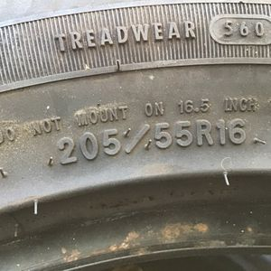 2 Tires 205/55/16 Goodyear for Sale in National City, CA