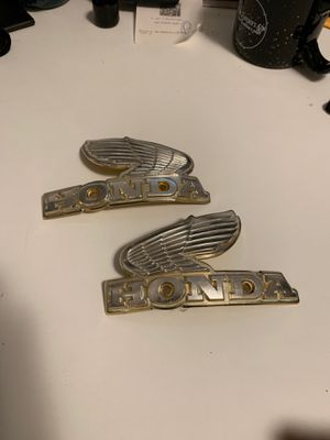 Vintage late 70's early 80's Honda Tank Badges w/Screws for Sale in Fresno, CA
