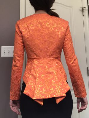 Orange Blazer//Statement Jacket// Size 6 (also fits 4) for Sale in Germantown, MD