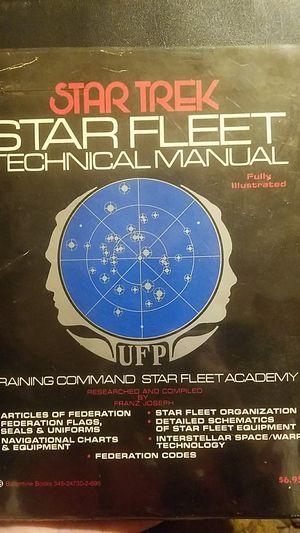 Star trek star fleet technical manual FIRST EDITION 1975 for Sale in Oakland, CA