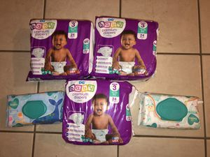 Baby Diapers and Wipes $12 for all for Sale in DeSoto, TX