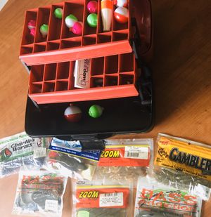 Flambeau tackle box 2 tier with accessories for Sale in Delray Beach, FL