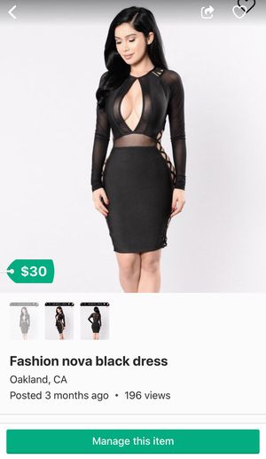5f1d01647c6 Fashion nova black dress for Sale in Oakland