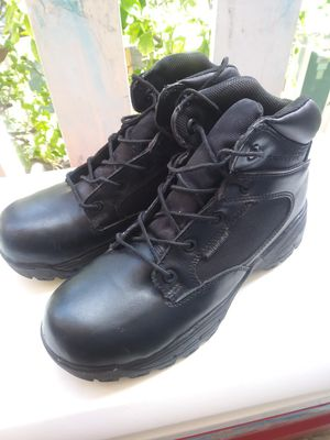 Black Men Work Boots Shoes Steel Toe for Sale in Miami Beach, FL