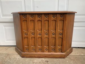 Drexel Esperanto Hall | Credenza | Petite | Slate | Mid Century | Buffet | Spanish | Mediterranean for Sale in Siler City, NC