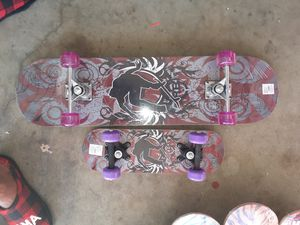 Large skateboard in small skateboard both for $40 located in Palmdale California for Sale in Palmdale, CA