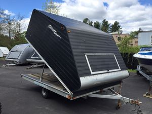 """2012 Blizzard 11'x101"""" enclosed clam shell trailer all aluminum will trade for Sale in Westford, MA"""