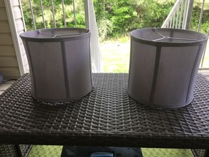 Brand new gray lamp shades for Sale in Raleigh, NC
