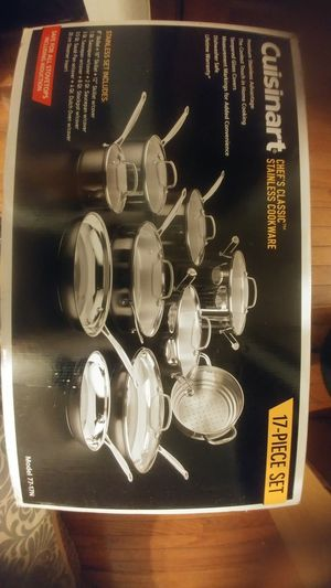 Cuisinart 17 piece stainless cookware set for Sale in Columbus, OH