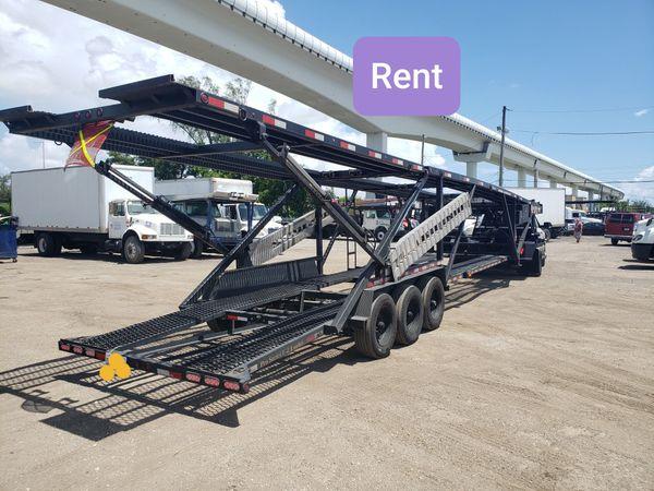 RENTA trailer Rents trailer 5 cars, 4 cars