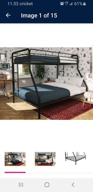 Black metal Bunk bed for Sale in Mesa, AZ