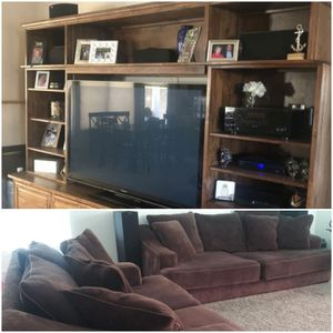 Couches and Entertainment Stand Combo Deal for Sale in Glendale, AZ
