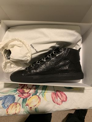 BALENCIAGA Black Leather Arenas size 11 for Sale in Silver Spring, MD