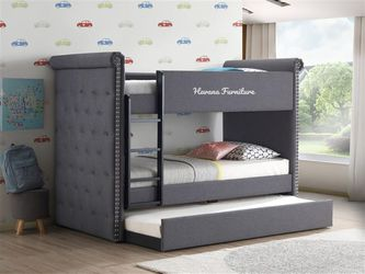 Bunk Bed With Trundle And Mattresses for Sale in Miami,  FL