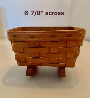 Longaberger 1991 Vintage Rocking Cradle Basket for Sale in Framingham, MA