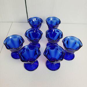 Anchor Hocking Cobalt 8 Parfait Glasses for Sale in Elk Grove Village, IL