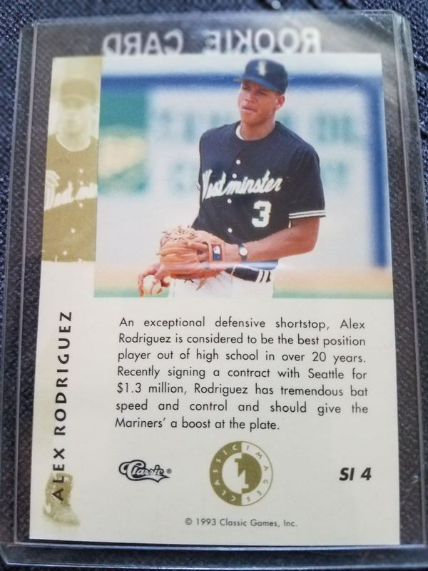 1993 Classic Alex Rodriguez Rookie Card For Sale In Cary Nc Offerup
