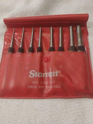 Starrett Drive Pin Punches # S565 for Sale in Phoenix, AZ
