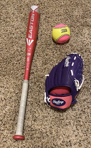 Girls' fast pitch glove, bat and ball for Sale in Federal Way, WA