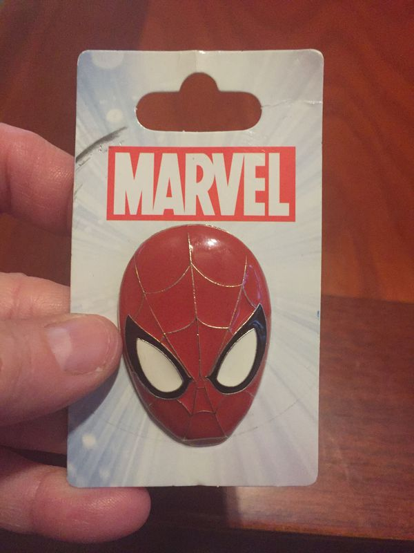 Brand new marvel Spiderman head pin from Disney world. One and a half inches tall
