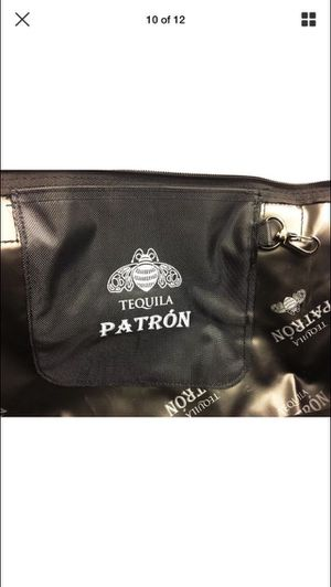 Patron Tequila rare collapsing insulated canvas bag tote black picnic lake beach beverage cooler tailgate for Sale in San Antonio, TX