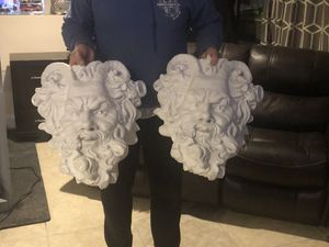 Two Greek god wall hangers / plant holders for Sale in Glocester, RI