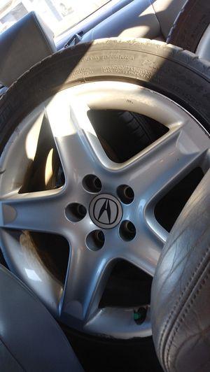 2005 Acura TL Original OEM Alloy Rims and 235 45 zr17 Tires for Sale in Huntington Beach, CA