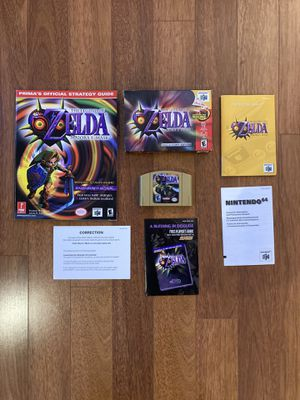 N64 Zelda Majora's Mask Collectors Edition Complete In Box with Prima's Official Strategy Guide for Sale in Arlington, VA