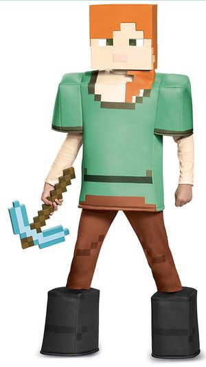 """🎃 New, PRESTIGE MINECRAFT """"ALEX"""" Costume! Size 7-8 💥CHECK OUT MY PAGE FOR LOTS MORE HALLOWEEN COSTUMES!!! for Sale in Moreno Valley, CA"""