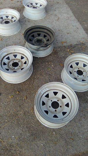 15 x 7 Trailer Rims 5 Lug for Sale in Porterville, CA