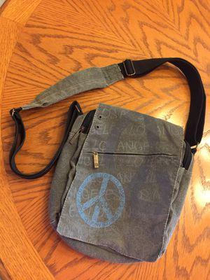 Robin Ruth Crossbody Cross Body Messenger Denim Bag Los Angeles Peace Vintage for Sale in DeBary, FL