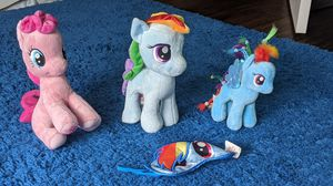 My Little Pony Plushies and eye mask for Sale in Frisco, TX