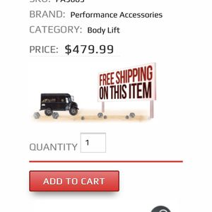 """Toyota Tacoma 3"""" Body Lift Kit for Sale in Henderson, NV"""