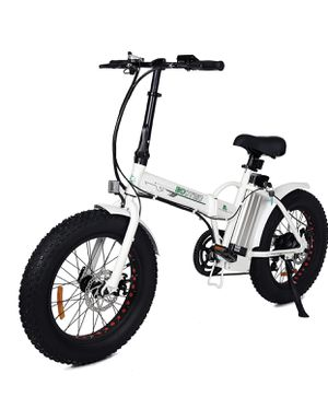 """ECOTRIC Fat Tire Folding Electric Bike Beach Snow Bicycle 20"""" Ebike Color White for Sale in Falls Church, VA"""