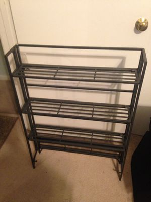Collapsible small space 3 tier shelf -metal for Sale in Herndon, VA