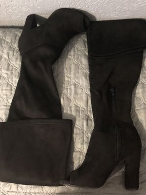 Over the Knee Suede Boots - BLACK for Sale in Pasadena, TX