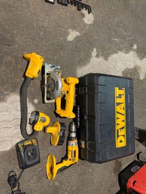 Dewalt 18 volt set everything on picture for Sale in Fullerton, CA