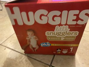 Size 1 huggies diapers for Sale in Spring Valley, CA