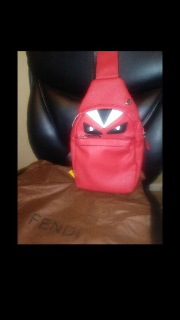 Men's Red Fendi Bag