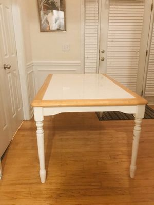 Wood Table with Tile Top for Sale in Fairburn, GA