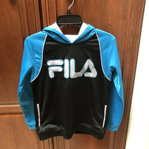 FILA HOODIE Blue, Black, & Silver Children's Large 10/12 for Sale in Arlington, TX
