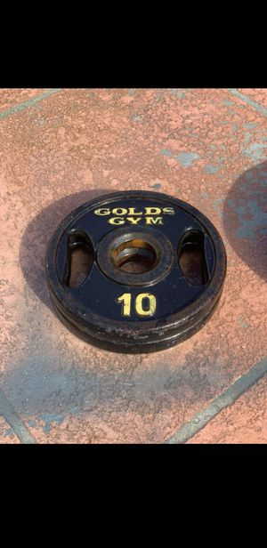 Olympic Weight Plates   10 Pound Set for Sale in Miami, FL