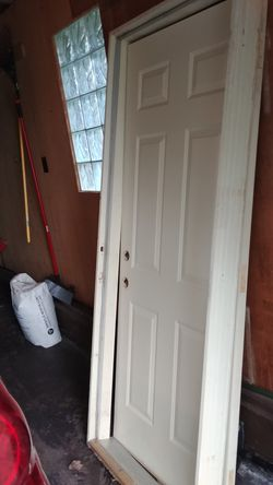6 panel steel entrance door left hand in swing for Sale in Manito,  IL