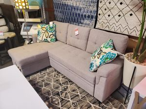 Reversible Sectional Sofa Pull Out Sleeper, Light Grey for Sale in Tustin, CA