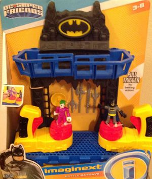 NEW! D.C. Super Friends Imaginext Batman Joker Battle Batcave, Kids Comic Book Action Figure Toy Play Set for Sale in Houston, TX