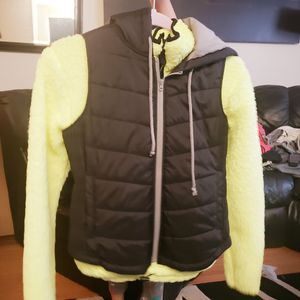 Neon sweater and black matching vest for Sale in Hillsboro, OR