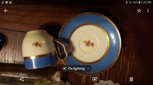 ANTIQUE BLACK KNIGHT CUP AND.SAUCER SET for Sale in Florence, MS