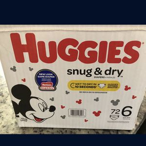 Huggies Size 6 for Sale in Fontana, CA