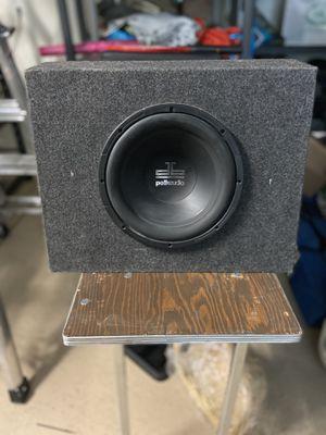 Polk audio 10 inch sub, box and crunch 500 watt amp! for Sale in Henderson, NV
