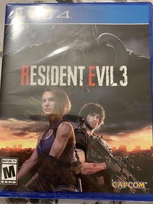 Resident evil 3 ps4 for Sale in Annandale, VA